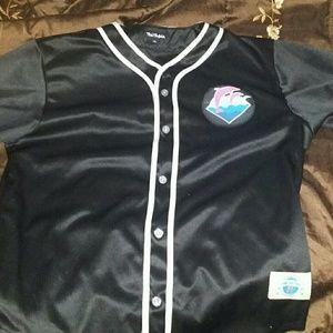 Pink dolphin baseball jersey